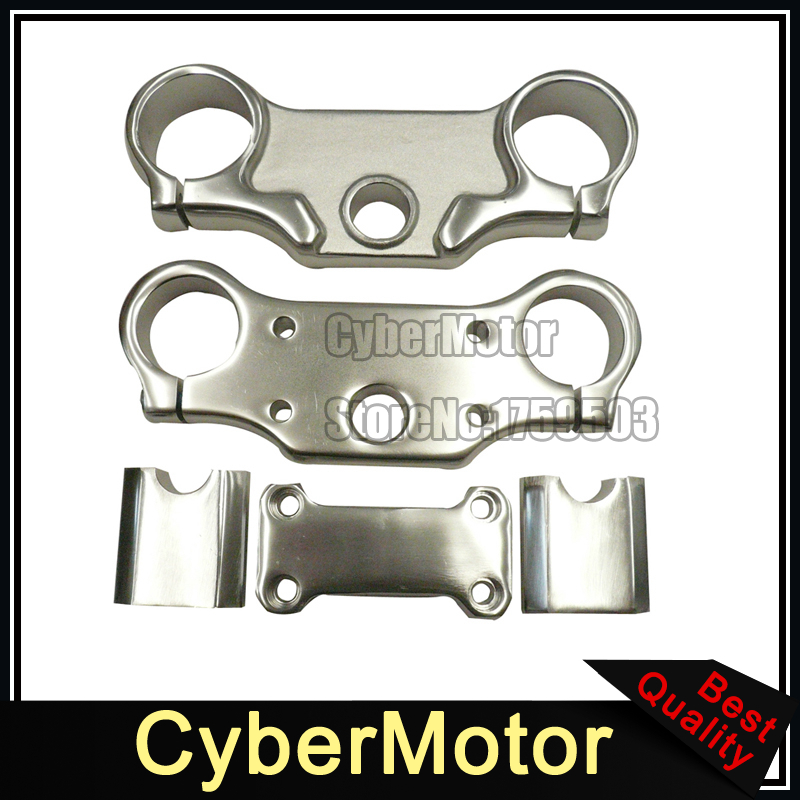 Aluminum Triple Clamps Bar Risers Taper Mount For 7/8'' 22mm Handlebar Chinese Pit Dirt Bike XR50 CRF50 SSR Thumpstar YCF TTR cnc foot brake pedal tip lever step plate tip replacement for crf50 xr50 ssr sdg tao tao dirt pit bike motorcycle free shipping