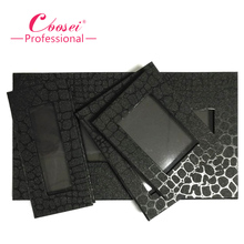 1pcs Magnetic Eyeshadow Palette,Crocodile Black Blank Pattern,Professional Naked Makeup Stroage.