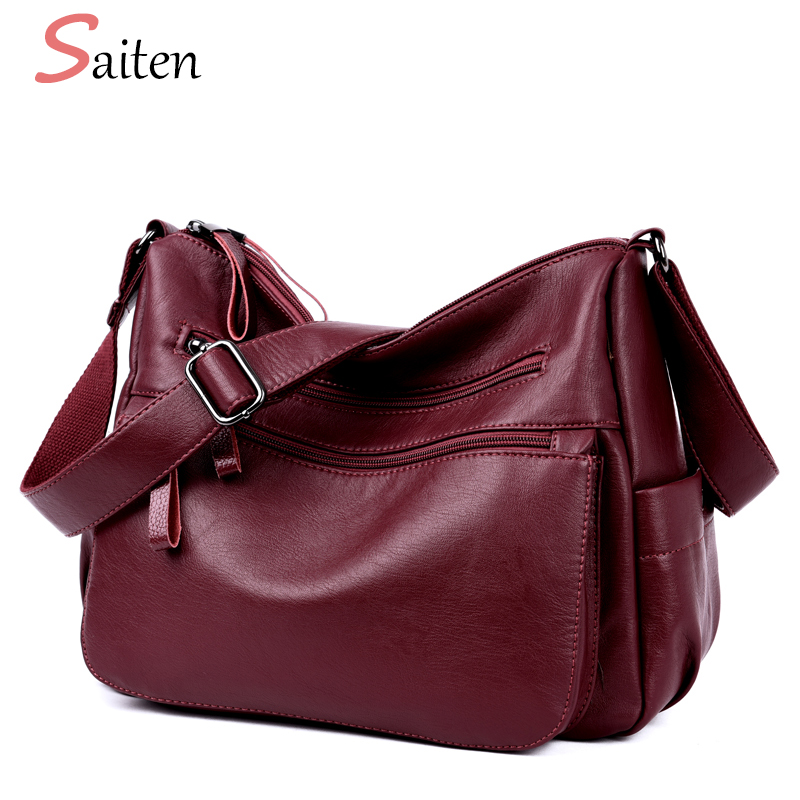 High Quality PU Leather Luxury Handbags Women Bag Designer Double Zippers Crossbody Bags For Women Casual Tote Bag sac a main