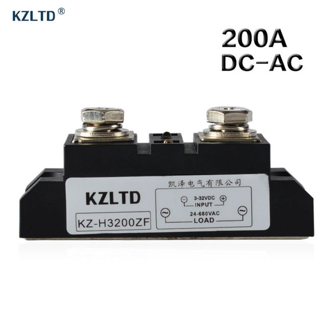 KZLTD SSR 200A DC to AC Solid State Relay 200A Industrial High