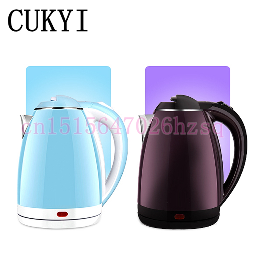 CUKYI New high quality Electric kettle 304 food grade stainless steel household kettle automatic power-off tea cukyi stainless steel 1800w electric kettle household 2l safety auto off function quick heating red gold