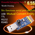 Usb converter cp2102 , usb , ttl , 485 , 232 , 3.3v and  5v output  Six  multifunctional functions