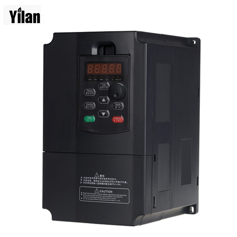 Freeshipping  VFD inverters 5500watt 7.5HP Power 13A 380V AC Variable Frequency Drives for speed control 5.5KW motor 0-400Hz