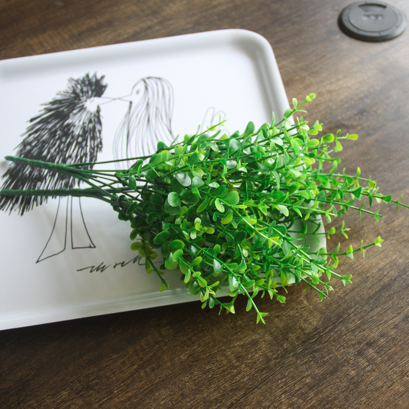 2018 New 7 Fork Green Grass Artificial Plants Penny Grass Plastic Flowers Decorate The Living