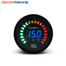 Black 2 inch 52mm Digital LED Oil Temp Gauge Auto Car Instruments oil Temperature gauge car meter AUTO GAUGE  YC100096