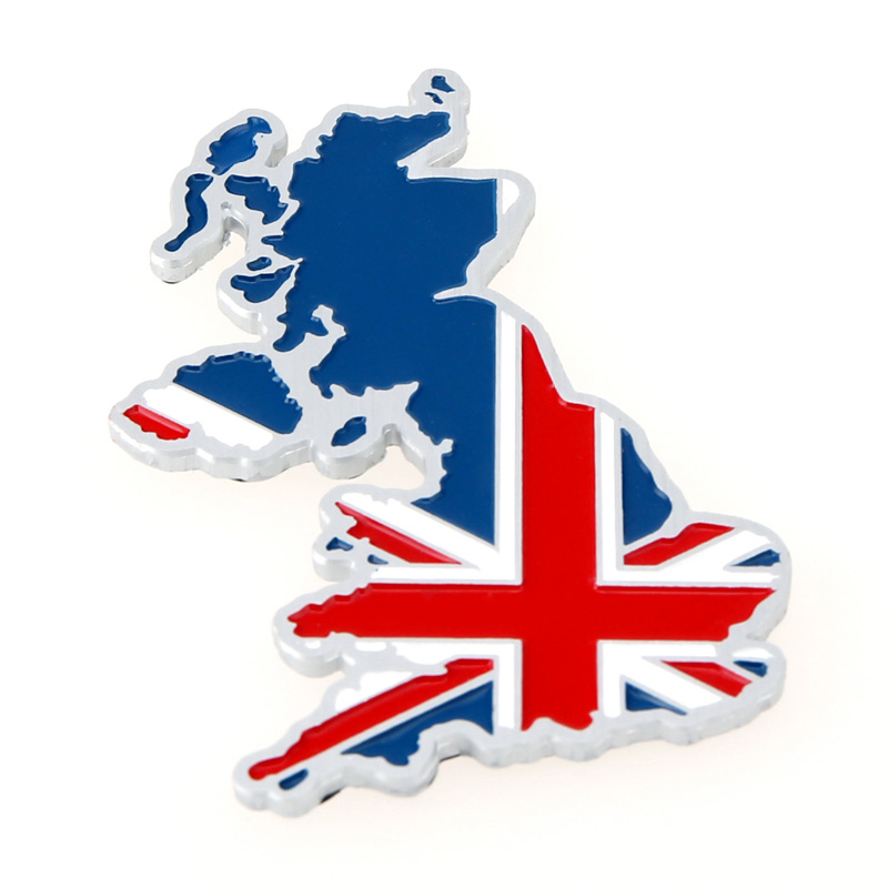 national 3d uk england map flag emblem badge 3m decal