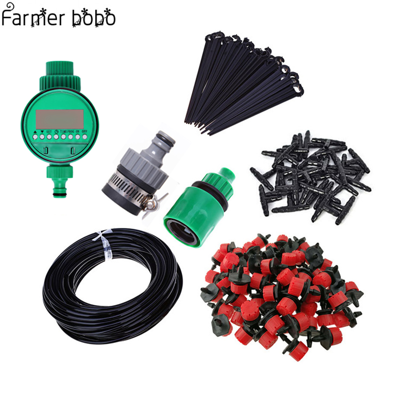 25m Garden Watering Timer  Automatic Drip Irrigation Micro Drip Irrigation System Garden Self Watering Kits irrigator  25m Garden Watering Timer  Automatic Drip Irrigation Micro Drip Irrigation System Garden Self Watering Kits irrigator