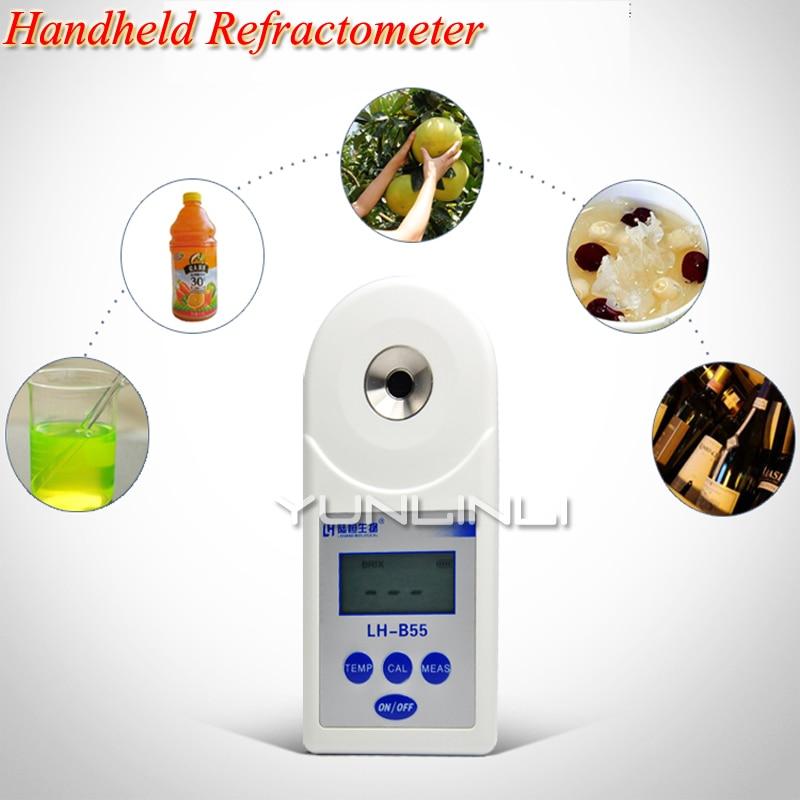Digital Sugar Refractometer Handheld Measuring Sugar Content Tool For Honey Fruit Concentration Meter Refractometer LH-T20 цена