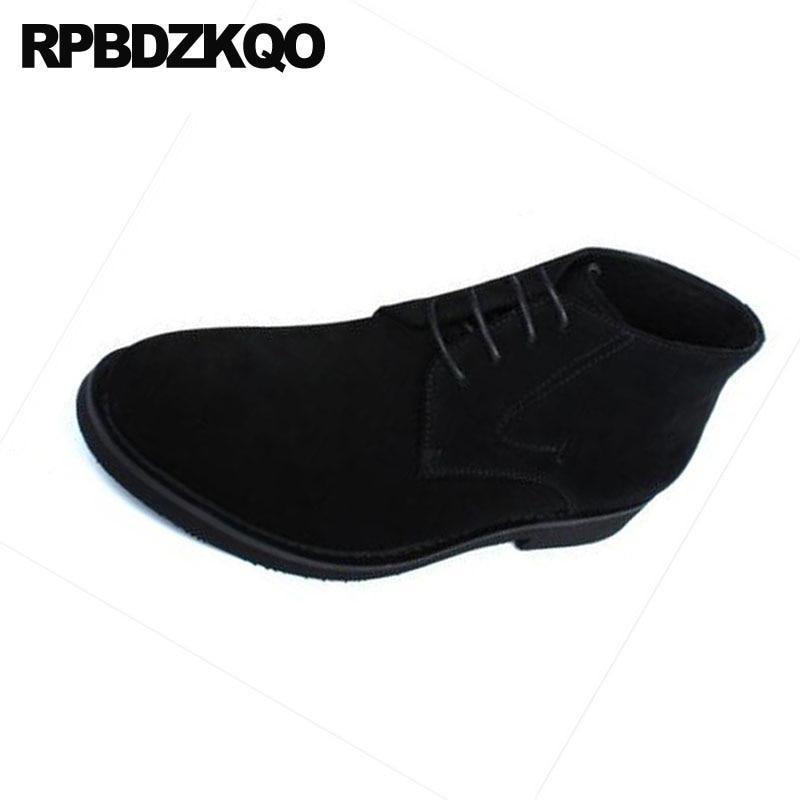 Alta brown Black Los De Vestido Suede Otoño Hombres Partido Genuino Cuero Up Oxford Grueso Business Calidad Formal Zapatos Botines Lace Diseñador HRBq1RI