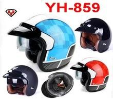 2015 Новый YOHE возвращение к древним Harley style off-road мотоцикл Мотоциклетные шлемы шлем YH-859 ABS и размер M, L, XL XXL