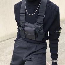 Полиэстер нагрудная сумка черный жилет хип-хоп Уличная функциональная тактическая нагрудная сумка Kanye West Wist пакет нагрудная сумка