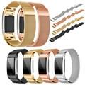Nova Milanese Cinta Faixa de Relógio de Aço Inoxidável Banda Inteligente Pulseira Pulseira + Filme HD Para Fitbit Carga 2 # ED