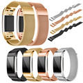 Nueva Milanese Inteligente Acero Inoxidable Banda Reloj de La Venda de La Pulsera Wristband + Film HD Para Fitbit Carga 2 # ED