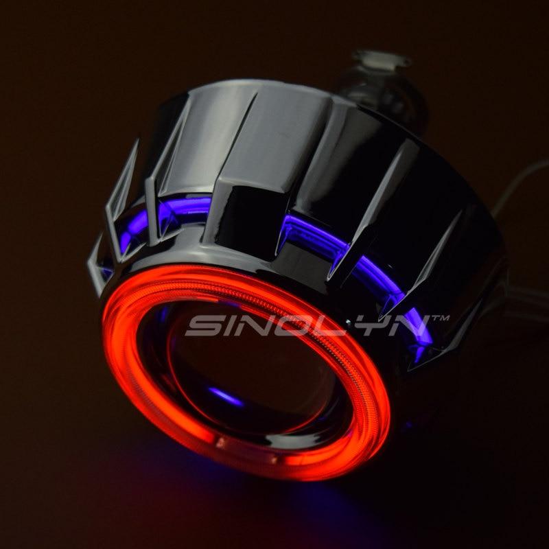 Sinolyn H7 H4 Фары линзы биксенон полный комплект Двойной ангельские глазки HID проектор линзы для автомобилей Аксессуары тюнинг использование H1 ксенон