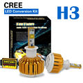 Taitian LED Headlight Bulbs Kit - H3- 60w 7,200Lm 6K Cool White - 2 Yr Warranty Fog DRL Replace Light Source Driving Bulbs