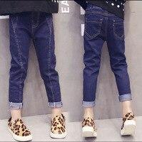 Tommu Carino Marke Calca jeans menina Kinder Mädchen Skinny Jeans Baby Kinder Trausers Frühling Herbst Dünne Mädchen Enge jeans