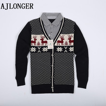 2014 New Winter Boy Sweaters Kids Knitted Sweater Boys Turtleneck Children Outerwear Clothing