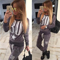 2017 Brand Women Winter Sport Suit Tracksuit Two Piece Set Long Sleeve Hoody Pants Survetement Chandal Mujer Completo Suit Women