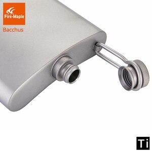 Image 3 - Fogo de bordo titânio hip flask bacchus 200ml 88g drinkware ultraleve escalada caminhadas acampamento ao ar livre uísque flagon