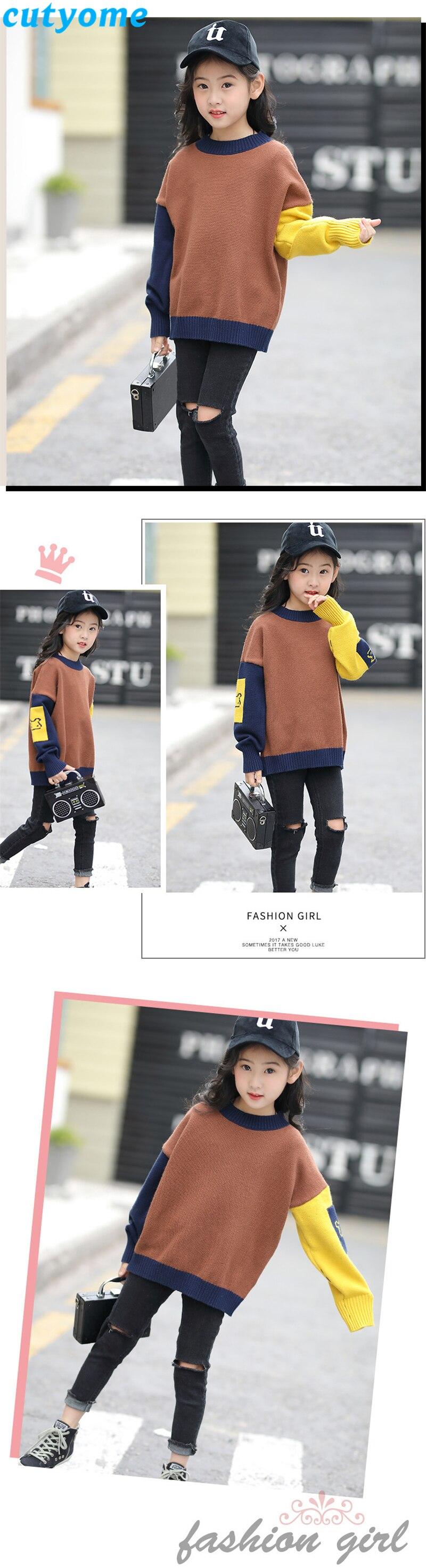 teenage girls patchwork sweater02