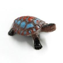 Mini Simulation Turtle Crab Figurine miniatures garden fairy moss terrarium DIY home decor bonsai craft PVC animals model
