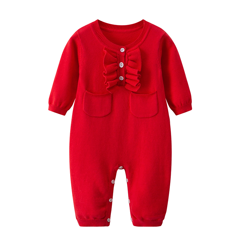 baby girl clothes,Infant baby girl Knitted Romper, Baby outfits jumpsuits,Red costume for baby girl artigli girl толстовка