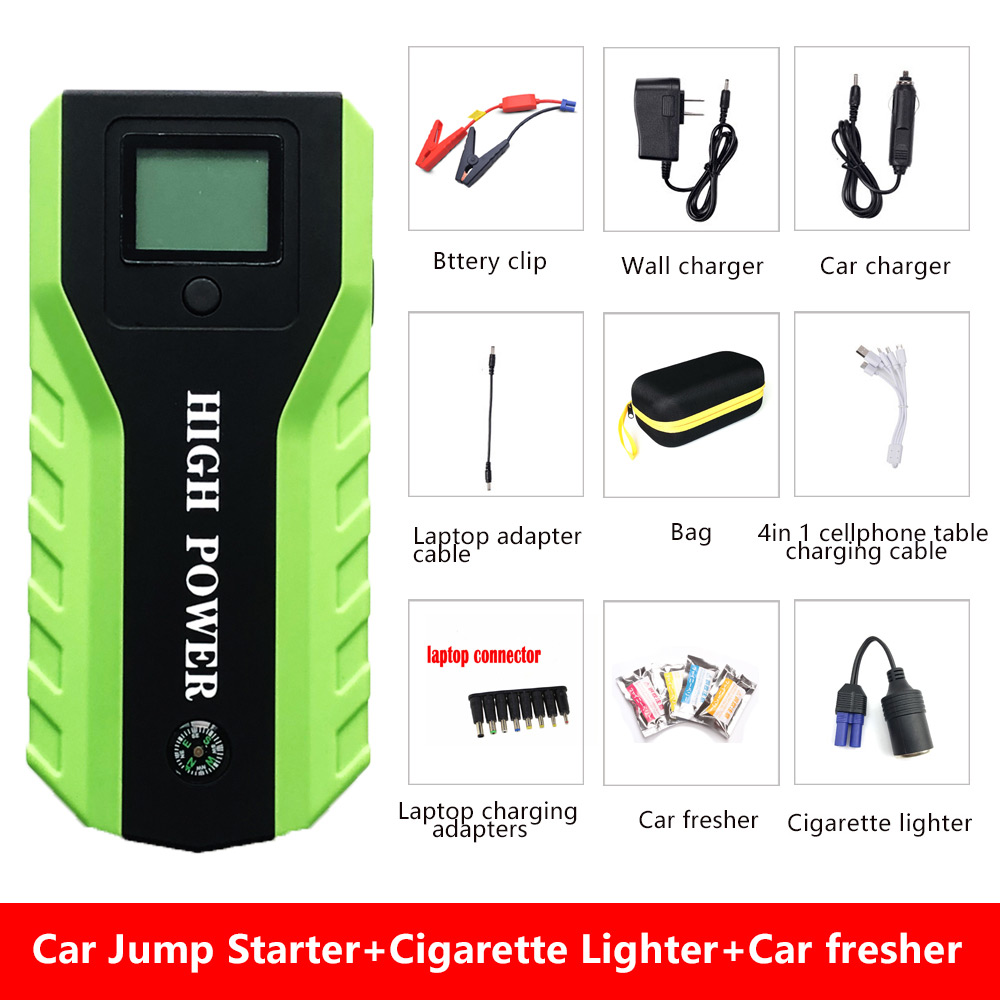 Portable High Power Car Jump Starter 12V 600A Emergency Starting Device Power Bank Car Battery Charger Petrol Diesel Car Booster car jump starter 600a portable starting device lighter power bank 12v charger for car battery booster starting petrol diesel ce