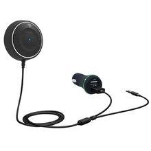 Беспроводной громкой связи AUX Bluetooth 4.0 Dual USB Автомобильное Зарядное устройство комплект 3.5 мм Jack Auto Music Receiver адаптер вызова для телефона автомобиль Динамик