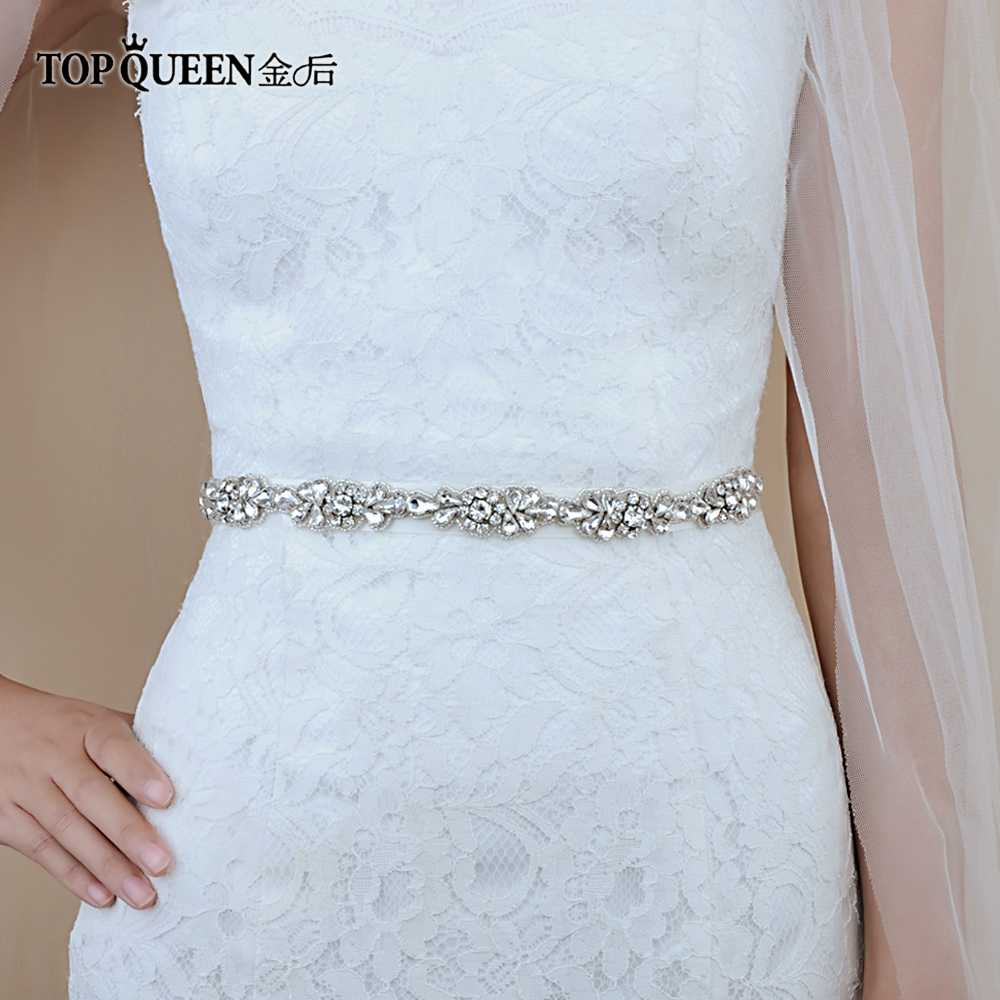 TOPQUEEN S235 Crystal Rhinestones Evening Party Prom Dresses Accessories Wedding  Belt Sashes 1ab70f7ca5d5