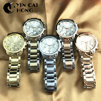 YCH Alloy Fashion Business Exquisite Men And Women Couple Quartz Watch Rose Gold High Quality Original Jewelry Fashion Gift