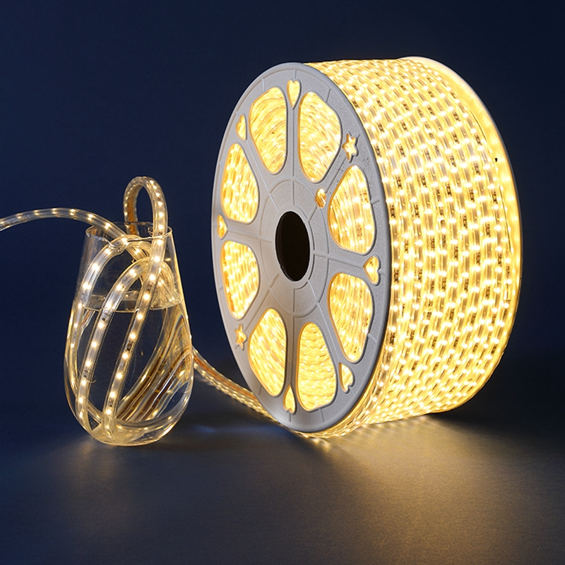 15M 20M 25M 30M  100M  LED Strip 220V AC Waterproof 120LEDs/M 2835 SMD Garden Outdoor Lights Holiday Christmas Deccoration Lamp