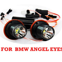 2pcs New Angel Eyes LED Marker CREE 10W For BMW E39 E64 E60 E66 E87 X3