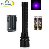 Lanterna Led lanterna Mergulho Lanterna À Prova D' Água 3 x UVdiving 365-395nm UV Tocha Lanternas & kit carregador de bateria