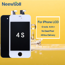 10pcs/lot LCD Screen For iPhone 4S Replacement Display Touch Digitizer Screen Assembly For iPhone 4S LCD DHL free shipping цена