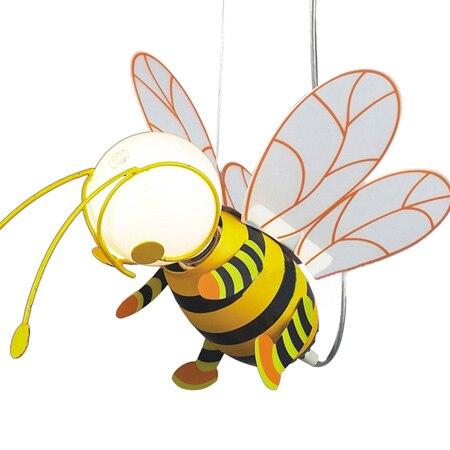 Honey bee cartoon children's pendant light lovely orange small bees children's bedroom lamp backyard farming keeping honey bees