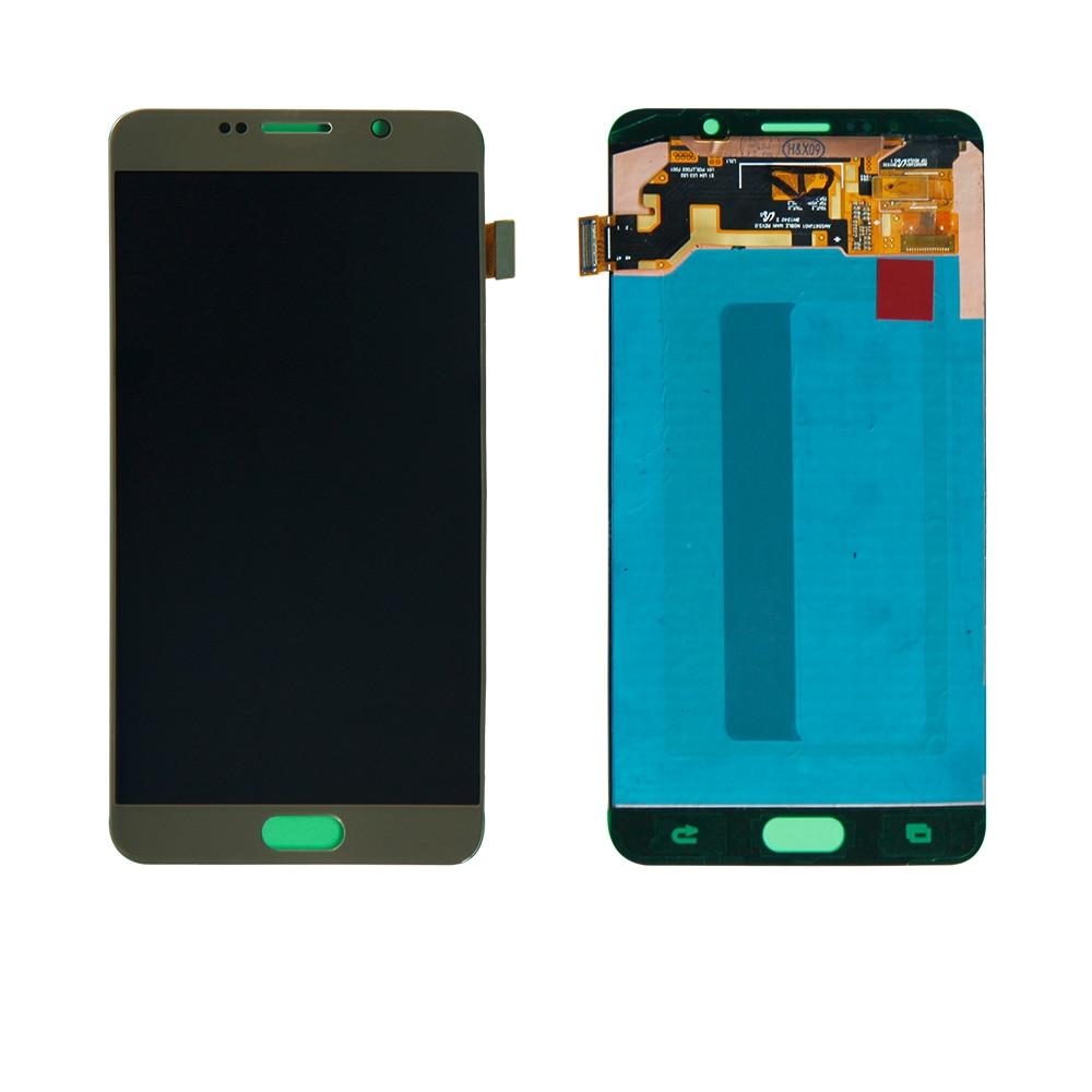 Для Samsung Galaxy Note 5 sm n920t sm n920v sm n920t N920A золото Сенсорный экран планшета ЖК дисплей Дисплей сборки Бесплатная доставка