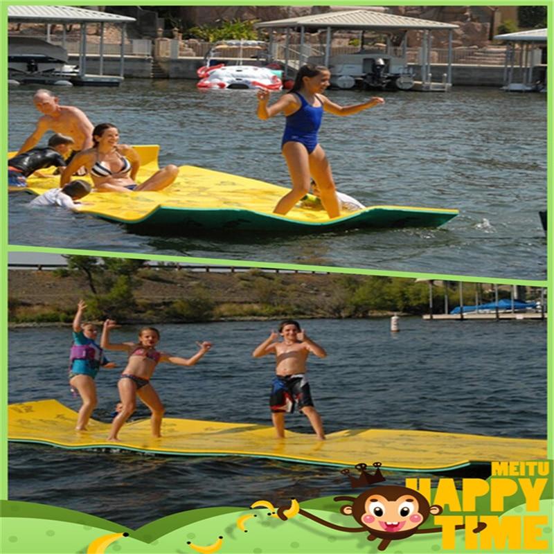 2 pcs/lot couverture d'eau lit flottant l'eau le plus doux tapis flotteur d'eau 550x185x3.3 cm