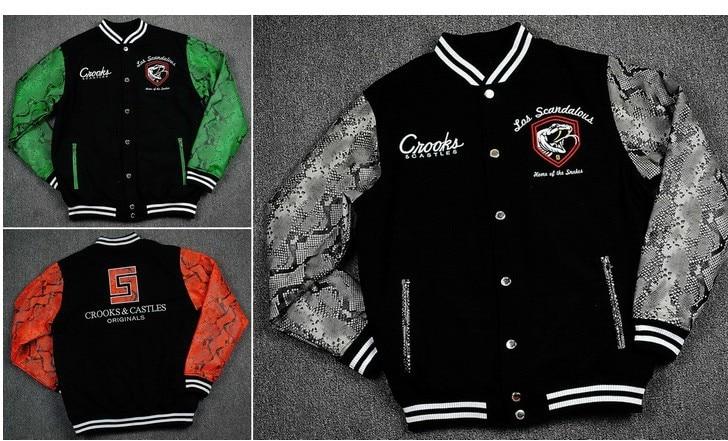 Online Shop original snake leather jacket baseball jacket hoodie ...