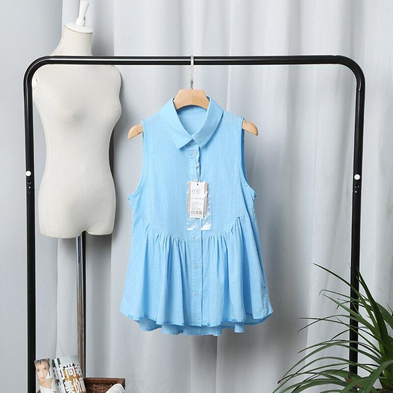 Diseño de marca  mujeres elegante da vuelta-abajo azul rosa blanco sólido blusas