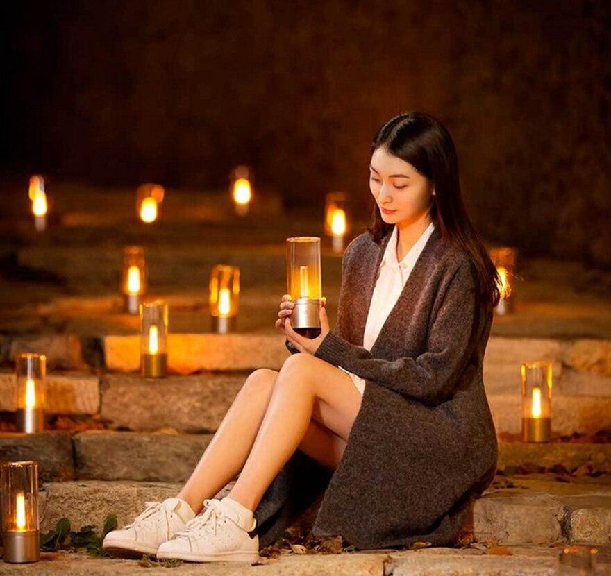 Xiao mi Yeelight Controle Inteligente Levou Noite um Jantar À Luz de Velas Romântico Cama Lâmpada mi jia Presente de Aniversário para o Amigo de Menina mi Casa App - 2