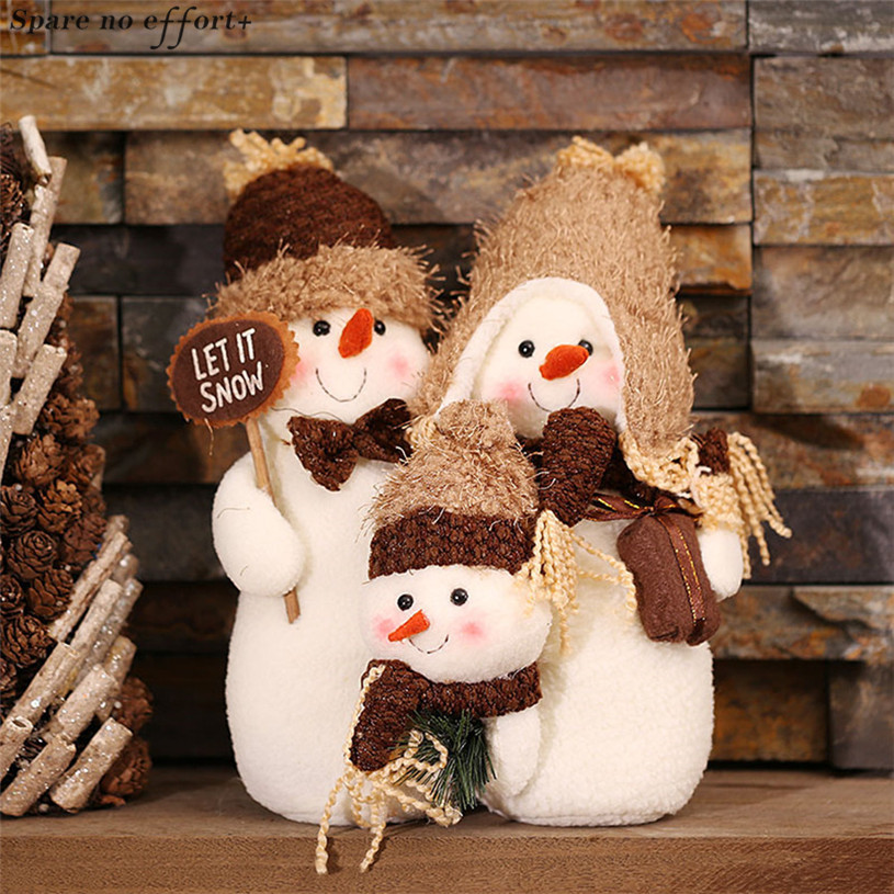 Christmas Home Office Mall Desktop Decoration Snowman Dolls Happy New Year Birthday Gifts Plush Toy Home Decor Accessories Natal