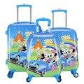 Muchachos lindos del ratón de Minnie maleta con ruedas / Hardside caja de la carretilla Maletas / cabritos de la historieta diseñador bolsas de equipaje maleta Enfant