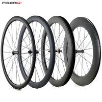 Enkele front 25mm breed 24/38/50/60/88mm Diepte Carbon racefiets Wielen-in Fiets wiel van sport & Entertainment op