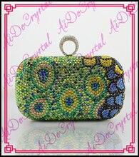 aidocrystal spezielle design ring Knöchel koffer grün kristall kupplung geldbörse handgefertigt 2016