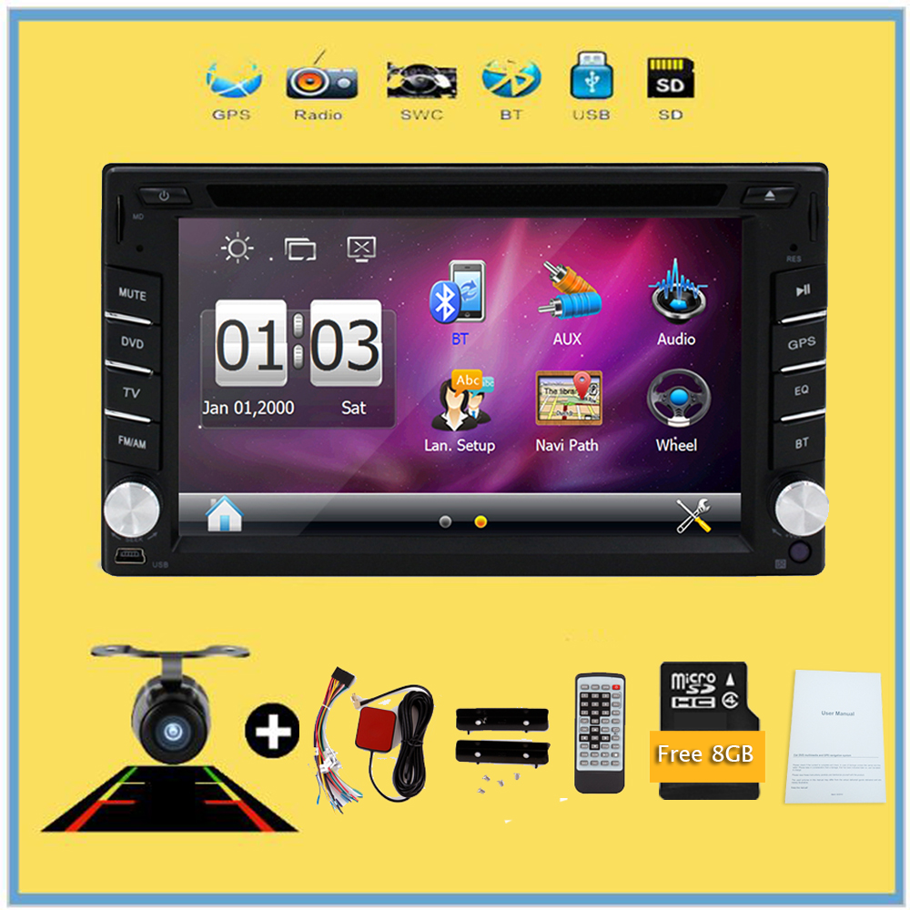 Multimedia Universal Car Radio Double 2 Din Car DVD Player GPS Navigation In Dash Car PC Stereo Video Free Map Car Electronics 2 din car dvd frame dashboard kits front bezel radio frame adaper dvd cover dash trim kit for kia rio 5 door rhd double din