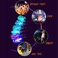 10 unids/lote glowing led llavero bombilla espiral de la lámpara llavero luz juguete de cumpleaños fuentes del partido acontecimiento flashing led llavero juguetes