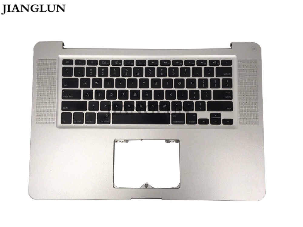 JIANGLUN For Apple A1286 2011 2012 Top Case Topcase Palmrest With US Keyboard a1286 top case for apple macbook pro a1286 top case with us keyboard for 2008