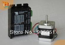 цена на New Arrival! Wantai Nema 17 Stepper Motor 42BYGHW609 4000g.cm+Driver DQ420MA 1.7A 36V 128Micro CNC Router Plasma Engraving Grind