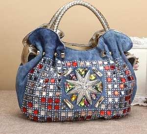 e80c7ec419 Womens Rivets Shoulder Bag Tote Bag Cross Body Handbags