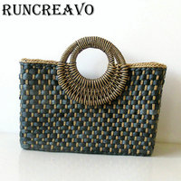 Summer totes Bags For Women 2019 Luxury Handbags Women Bags Designer Famous Brand Ladies Rattan Beach Bag Wicker Straw Bag